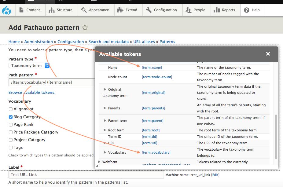 How to Create a Custom Taxonomy Term URL Using Drupal 8