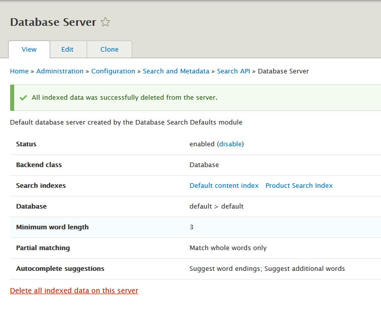 Fixing Search API Index Error